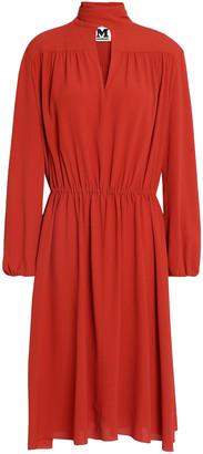 M Missoni Gathered Cutout Crepe Dress