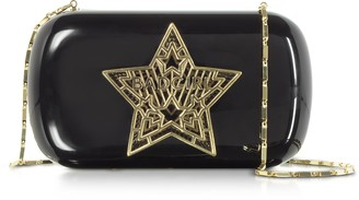 Black Plexiglass Bad Girl Clutch w/Chain Strap