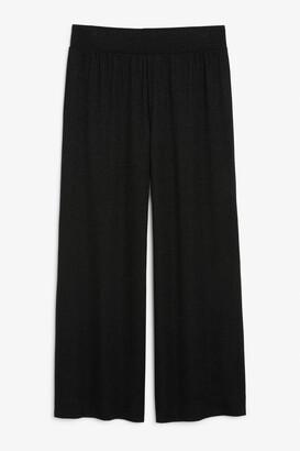 Monki Wide leg glitter trousers
