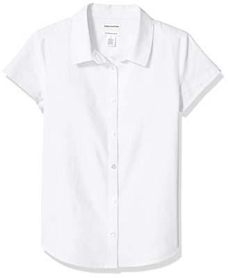 Amazon Essentials Plus Short-sleeve Oxford Shirt Button,M(P)