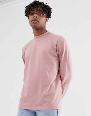 Carhartt Wip WIP long sleeve high neck Boxwood t-shirt in pink