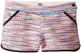 Karl Lagerfeld Tweed Shorts w/ Fringe Contrast Black Trim Girl's Shorts