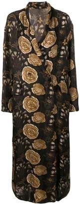 UMA WANG Rose printed long coat