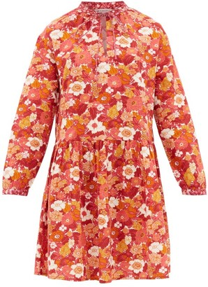 D'Ascoli Lulu Floral-print Cotton Dress - Pink Print
