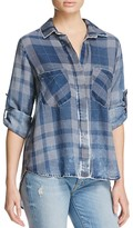 Bella Dahl Split Back Plaid Shirt