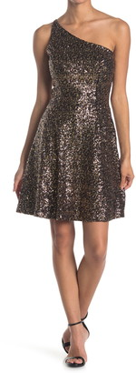 Dress the Population Cher One-Shoulder Sequin Bodycon Dress
