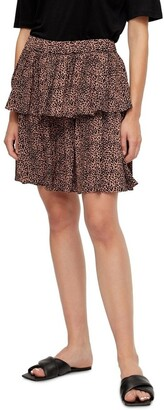 Y.A.S Laivo High Waisted Skirt Brown