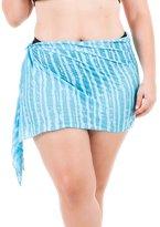 THE MESH KING Coqueta Swimwear Curvy Plus Size Sarong Cover up Beach Pareo Canga Swimsuit Wrap