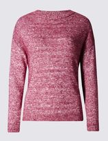 Marks and Spencer Boxy Marl Crew Neck Jumper