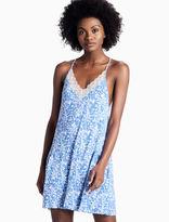 Lucky Brand Lace Trim Soft Knit Tank
