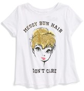 Mighty Fine Toddler Girl's Messy Bun Graphic Tank