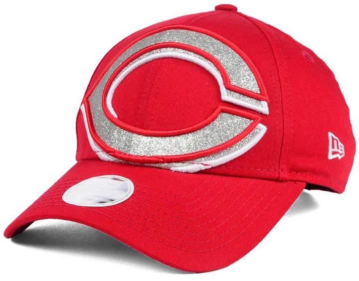 New Era Women's Cincinnati Reds Glitter Glam 9FORTY Strapback Cap