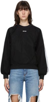 MSGM Black Tulle Micro Logo Sweatshirt