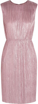 Gucci Plissé Lamé Mini Dress - Pink
