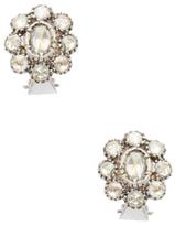 Artisan 18K White Gold & 2.28 Total Ct. Rosecut Diamond Stud Earrings