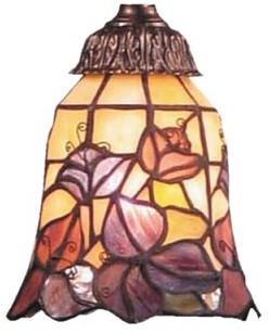 """Fleur De Lis Living Antoinette 5.25"""" Glass Bell Ceiling Fan Fitter Shade"""