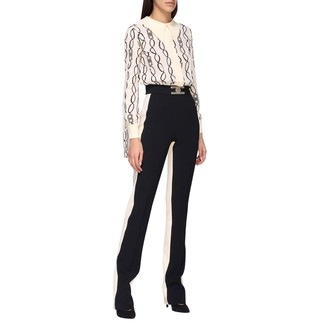 Elisabetta Franchi Two-tone Suit With Chain Print
