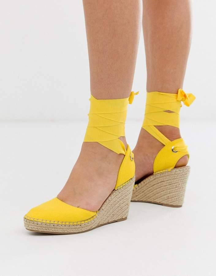 088549a4e09 Design DESIGN Jaylen espadrille wedges in yellow