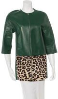 Celine Leather & Ponyhair Jacket