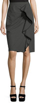 Nanette Lepore Carley Pencil Skirt w/ Ruffled Frill