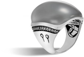 John Hardy Bamboo Ring in Silver with 28x21MM Gemstone and Diamonds