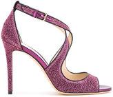 Jimmy Choo 'Emily 100' glitter sandals