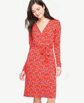 Ann Taylor Tall Fern Always On Wrap Dress