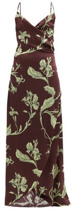 Johanna Ortiz Given Promise Floral-print Silk Slip Dress - Brown Multi