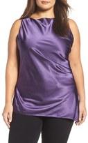 Melissa McCarthy Plus Size Women's Charmeuse Drape Front Tank