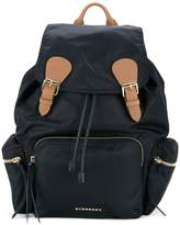 Burberry Large Rucksack in Technical Nylon and Leather