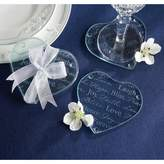 Kate Aspen 12ct Good Wishes Heart Glass Coasters