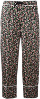 Moncler floral print cropped trousers - women - Silk - 42