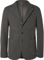 Barena - Grey Unstructured Neoprene Blazer