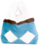Simonetta Ravizza large open tote - women - Mink Fur - One Size