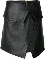 Balmain asymmetric foldover skirt