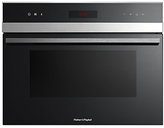 Fisher & Paykel OB60N8DTX1 Compact Single Oven, Stainless Steel/Glass