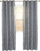 Asstd National Brand Cambridge Home Angelina Jacquard 2-Pack Grommet-Top Curtain Panels