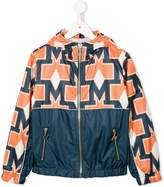 MSGM patterned hooded jacket