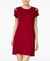 Planet Gold Juniors' Strappy-Shoulder T-Shirt Dress