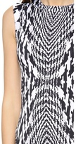 Monique Lhuillier Sleeveless Seamed Dress