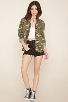 Forever 21 FOREVER 21+ Camouflage Print Shirt Jacket