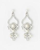 Le Château Gem & Pearl-Like Chandelier Earrings