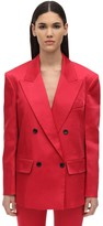 we11done We11 Done BACK ZIPPED THICK SATIN BLAZER