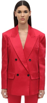 we11done Back Zipped Thick Satin Blazer