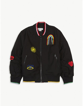 Stella McCartney Embroidered nylon bomber jacket 4-16 years