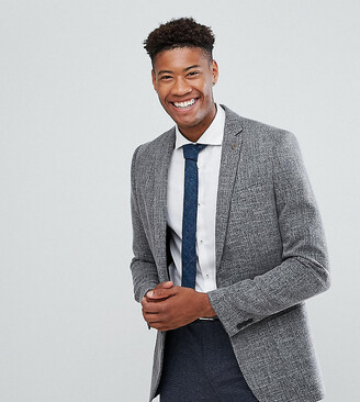 Farah TALL Skinny Textured Blazer-Grey