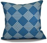 16 in. x 16 in. Check it Twice Holiday Pillow in Teal