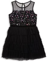 BCBGirls Girl's Mesh Sequined Dress