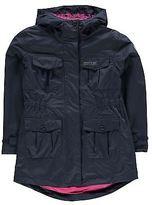 Regatta Kids Treasure Jacket Top Coat Girls High Neck Hooded Full Zip