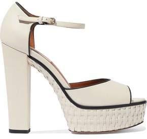 Valentino Garavani Woven Leather Platform Sandals